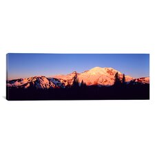Panoramic Sunset Mount Rainier Seattle, Washington Photographic Print on Canvas