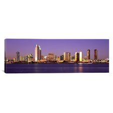 Panoramic Skyscrapers in a City, San Diego, San Diego County, California Photographic Print on Canvas