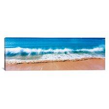 Panoramic Surf Fountains Big Makena Beach Maui, Hawaii Photographic Print on Canvas
