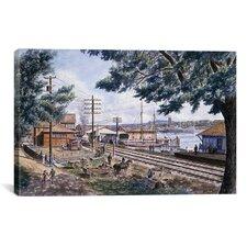 """Steam Along Hudson"" Canvas Wall Art by Stanton Manolakas"