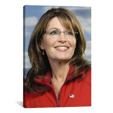 Political Sarah Palin Portrait Photographic Print on Canvas