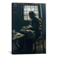 'Woman Sewing' by Vincent Van Gogh Painting Print on Canvas