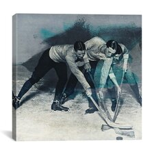 Canada Vintage Hockey Game Graphic Art on Canvas