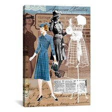 'Vintage Fashion #1' by Luz Graphics Graphic Art on Canvas