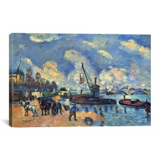 'Seine at Bercy' by Paul Cezanne Painting Print on Canvas