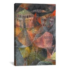 'The Hotel (Das Hotel)' by Paul Klee Painting Print on Canvas