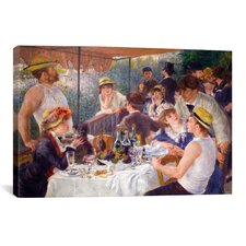 'The Luncheon of the Boating Party 1881' by Pierre-Auguste Renoir Painting Print on Canvas