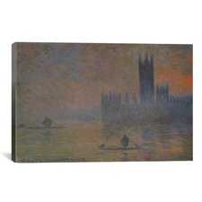 'The Houses of Parliament 1902-1904' by Claude Monet Painting Print on Canvas