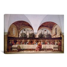 'The Last Supper' by Domenico Ghirlanaio Painting Print on Canvas