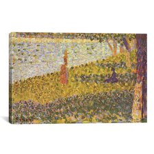'Women on The River Bank (Femmes au bord de l'eau) 1886' by Georges Seurat Painting Print on Canvas