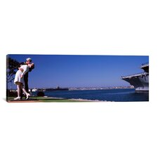 Panoramic Unconditional Surrender, San Diego Aircraft Carrier Museum Photographic Print on Canvas