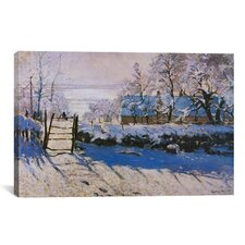 'The Magpie' by Claude Monet Painting Print on Canvas