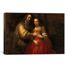 'The Jewish Bride' by Rembrandt Painting Print on Canvas