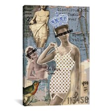 'Vintage Fashion #4' by Luz Graphics Graphic Art on Canvas