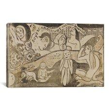 'Soyez Amoureuses, Vous Serez Heureuses 1898' by Paul Gauguin Painting Print on Canvas
