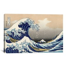 'The Great Wave at Kanagawa 1829' by Katsushika Hokusai Painting Print on Canvas