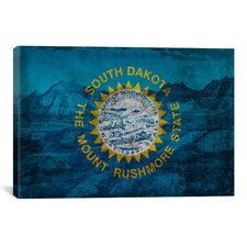 Flags South Dakota Badlands National Park Graphic Art on Canvas