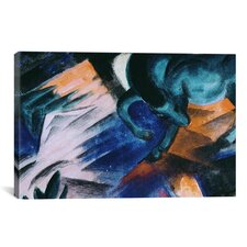 'The Green Horse' by Franz Marc Painting Print on Canvas
