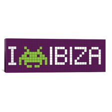 Space Invaders I Invade Ibiza Tile Graphic Art on Canvas