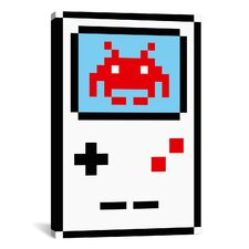 Space Invaders Gameboy Pixel Graphic Art on Canvas