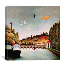 """View of the Bridge at Sevres"" Canvas Wall Art by Henri Rousseau"