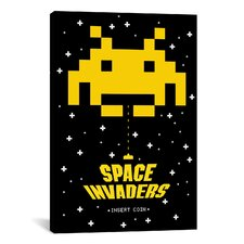 Space Invaders Insert Coin Graphic Art on Canvas