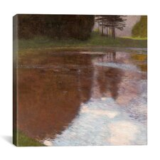 """Tranquil Pond Egelsee Near Golling, Salzburg"" Canvas Wall Art by Gustav Klimt"