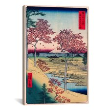 'View of the Sunset at Meguro, Edo' by Ando Hiroshige Painting Print on Canvas