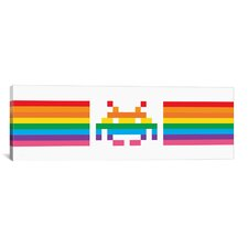 Space Invaders Pride Invader 2.0 Graphic Art on Canvas
