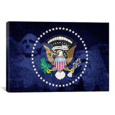 Flags U.S. Presidential Mount Rushmore, National Monument Graphic Art on Canvas