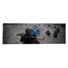 Flags Vintage U.S. Army in Vietnam War Panormamic Graphic Art on Canvas