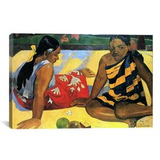 'Two Women Sitting' by Paul Gauguin Painting Print on Canvas