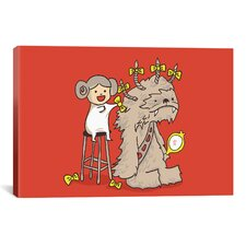 'Wookie Is a Wonderful Friend' by Budi Satria Kwan Graphic Art on Canvas
