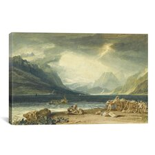 'The Lake of Thun, Switzerland' by Joseph William Turner Painting Print on Canvas
