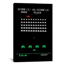 Space Invaders  Battle Stage Graphic Art on Canvas