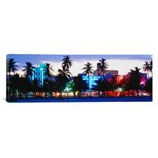Panoramic South Beach Miami Beach Florida Photographic Print on Canvas
