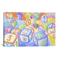 Kids Children Toy Blocks Canvas Wall Art