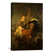 'Self-Portrait with Saskia in the Parable of the Prodigal Son' by Rembrandt Painting Print on Canvas