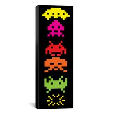 Space Invaders Totem (Multicolor) Graphic Art on Canvas