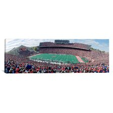Panoramic University of Wisconsin Football Game, Camp Randall Stadium, Madison, Wisconsin Photographic Print on Canvas