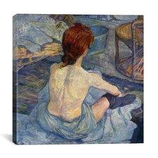"""Woman at Her Toilet"" Canvas Wall Art by Henri De Toulouse-Lautrec"