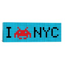 Space Invaders I Invade NYC Tile Graphic Art on Canvas
