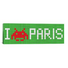 Space Invaders I Invade Paris Tile Graphic Art on Canvas