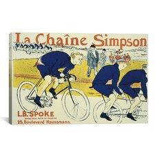 Simpson la Chain Bicycle Poster by Henri de Toulouse-Lautrec Vintage Advertisement on Canvas