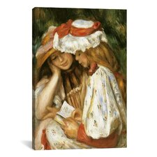 'Two Girls Reading' by Claude Monet Painting Print on Canvas