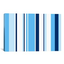 True Baby Blue Striped Graphic Art on Canvas