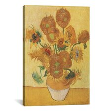 'Sunflowers 1888' by Vincent Van Gogh Painting Print on Canvas