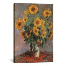 """Sunflowers 1889"" by Vincent Van Gogh Canvas Painting Print"
