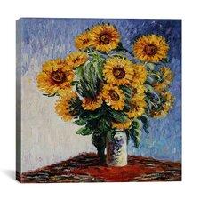 """Sunflowers"" Canvas Wall Art by Claude Monet"