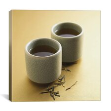 Tea Cups Photographic Canvas Wall Art